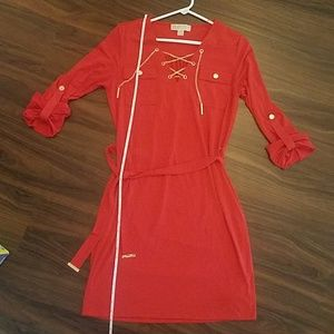 MICHAEL Michael Kors Fire Red Dress